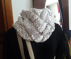 cowl, handmade, and knitted image