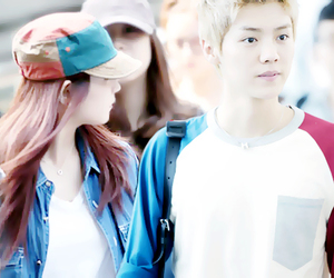 couple, exo, and kpop image