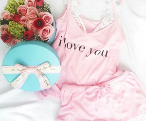 pink roses, red roses, and pink tank top image