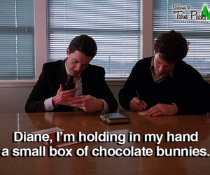 bunnies, chocolate, and david lynch image