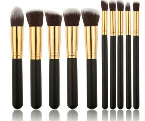 beauty, valentine, and makeup brushes image