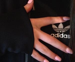 adidas, nails, and tumblr image