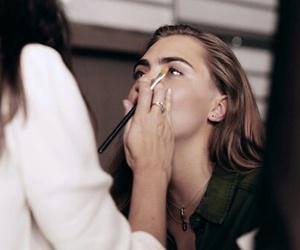 makeup, model, and cara delevingne image