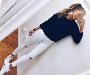 style, outfit, and white image