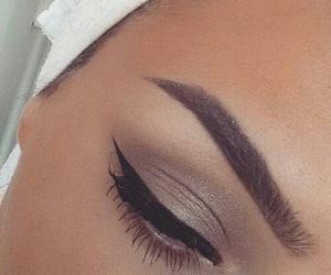 eyeliner, girl, and glam image