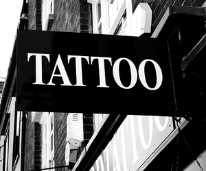 tattoo, black and white, and black image