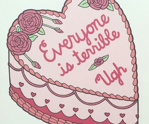 cake, card, and valentines image