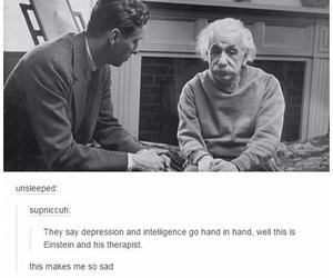 sad, depression, and einstein image