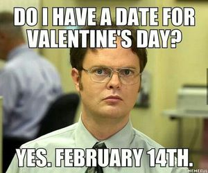 funny, Valentine's Day, and date image
