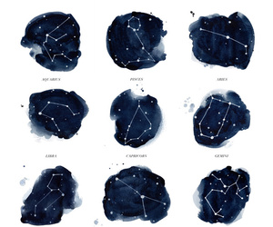 constellations, drawing, and night image
