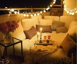candles, light, and night image