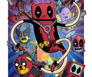 adventure time, deadpool, and finn image
