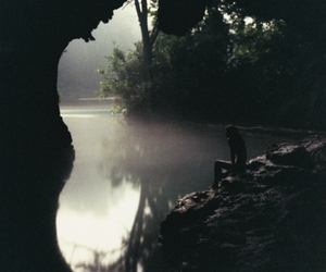 cave, nature, and water image
