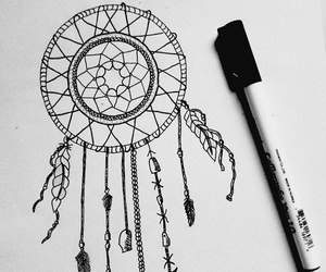 black, cute, and dreamcatcher image