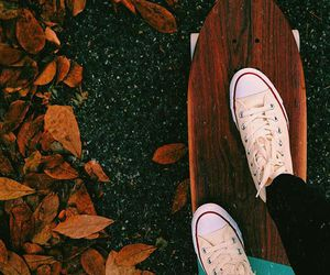 all star, autumn, and converse image