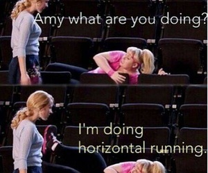 running, pitch perfect, and fun image
