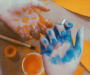'blue', 'girls', and 'hands' image