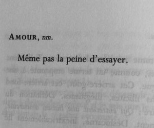 amour, french, and citation image
