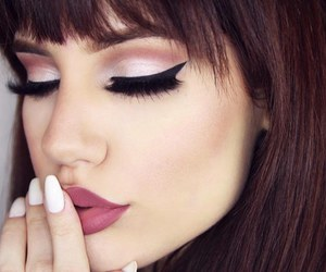 makeup, eyeliner, and beautiful image