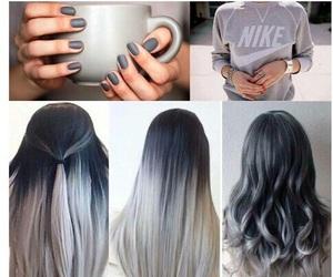 hair, nails, and grey image