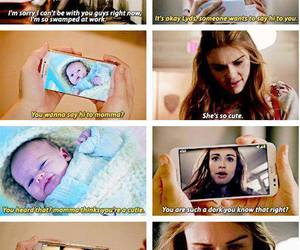 teen wolf, stydia, and baby image
