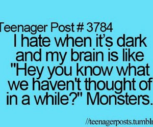 monster, teenager post, and dark image