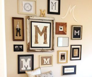 picture frames, house design, and gallery wall image