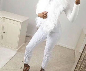 fashion, white, and heels image