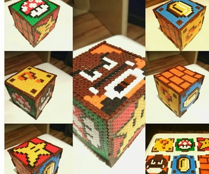 beads, cube, and supermario image