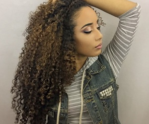 beauty, curly, and natural hair image