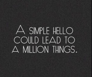 hello and quotes image