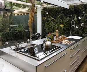 interior, kitchen, and semi-outdoor kitchen image