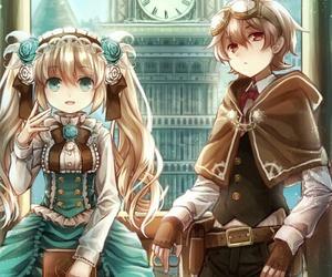 anime girl, beautiful, and boy image