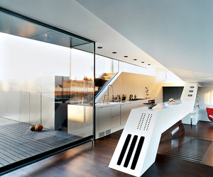 kitchen, architecture, and home image