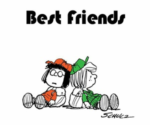 best friends, snoopy, and love image