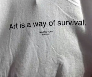 art, survival, and fashion image