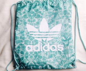adidas, bag, and blue image