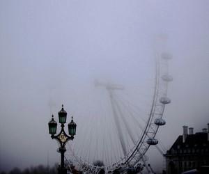 london, fog, and grunge image