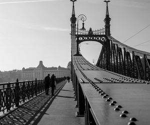 black and white, bridge, and grunge image