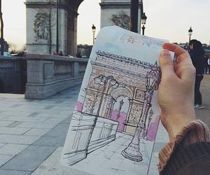 art, drawing, and paris image