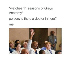 grey's anatomy, funny, and doctor image