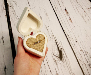 engagement, etsy, and heart shaped box image