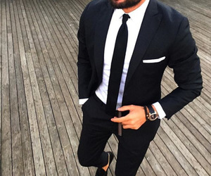 suit, men, and black image