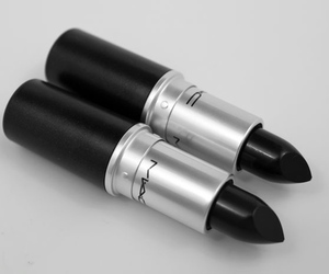 black, mac, and lipstick image