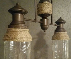 etsy, jute, and shabby chic chandelier image