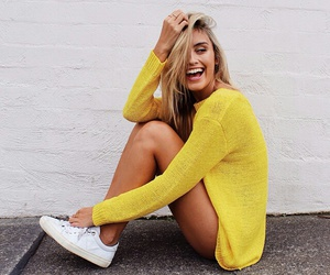 girl, yellow, and style image