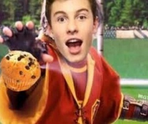 harry potter, muffins, and shawn mendes image