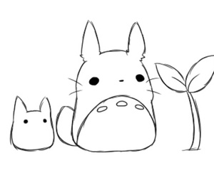 cute, totoro, and gif image
