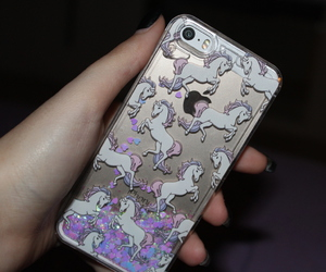 case, cover, and glitter image