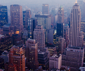 city, light, and new york image